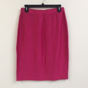 St. John Pink Sparkly Pencil Skirt Size 10